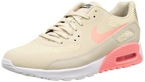 Nike Nike Damen Air Max 90 Ultra 2.0 Laufschuhe, Beige (Beige Oatmeal/Lava Glow-White-Dark Grey), 37.5 EU