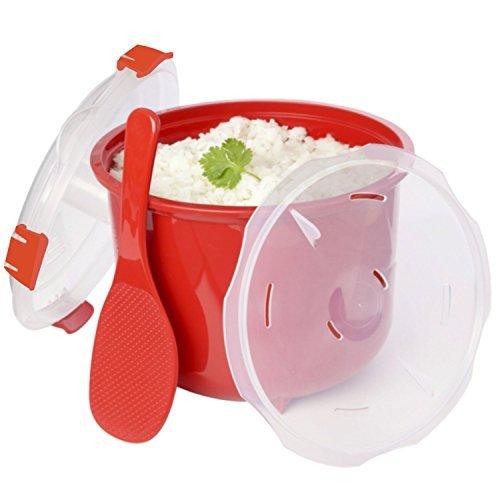 Olla para microondas coccion rapida con cesto 2,6L pollo arroz cuscús, quinoa ..