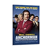 ICICLANE Anchorman Movie Poster Canvas Art Poster and Wall Art Picture Print Modern Family Bedroom Decor Posters 16x24inch(40x60cm)