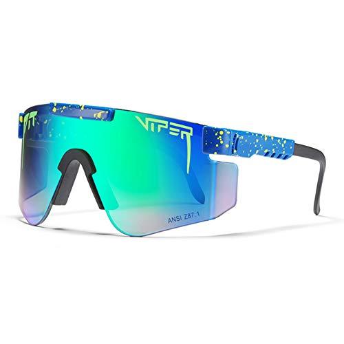 Gafas de Ciclismo, Lentes de Protección UV, Gafas de Moto Polarizadas, Gafas de Montar, Gafas de Sol o Hombres y Mujeres