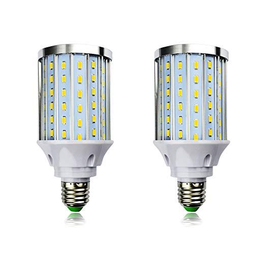 MD Lighting 30W E27 LED Corn Light Bulbs(2 Pack)- 108 LEDs 5730 SMD 2700 Lumen COB Light Lamp Ultra Bright Warm White 3000K LED Bulb 240 Watt Equivalent for Backyard Barn Outdoor Large Area, 85V-265V