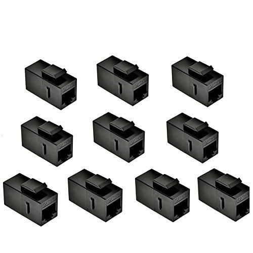 CAT6 Keystone Jack, MACTISICAL RJ45 Kupplungen Weiblich zu Weiblich Gerades Ungeschirmtes In-Line Cat 6 Ethernet Modul