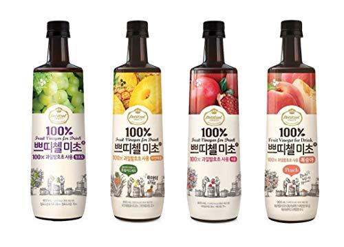 【お得】美酢「ミチョ」900ml 飲みくらべ4本セット(ザクロ・もも・マスカット・パイナップル) ギフト にも 美味しい お取り寄せ