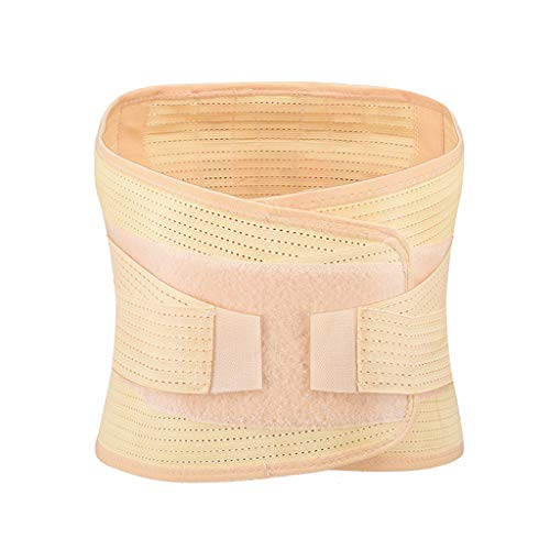 Fine Men Back Brace, Breathable Mesh Design with Lumbar Pad, Adjustable Support Straps,Posture Corrector Lower Back Belt, Lumbar Support Belt (Khaki, L)