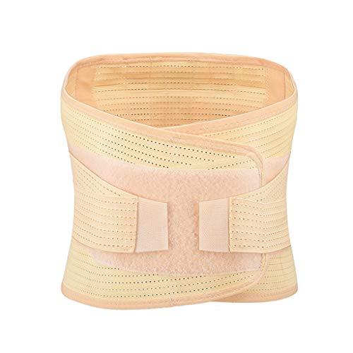 Fine Men Back Brace, Breathable Mesh Design with Lumbar Pad, Adjustable Support Straps,Posture Corrector Lower Back Belt, Lumbar Support Belt (Khaki, L)