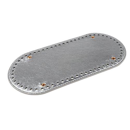 MagiDeal Damen Taschenzubehör Einlegeboden Baseshaper Bag Shaper Taschenboden für Handtaschen Damentaschen - Silber, 25x12x0,4 cm