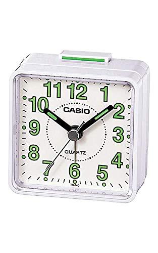 Casio- Tq-140-7ef Beep Alarm Clock White Electronics, New