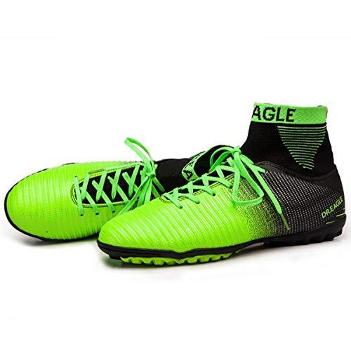 Holystep Football Schuhe Herren Sneakers Pattern Breathable High Top PU Soccer Shoes Fussballschuhe Kinder AGLE (7,B)
