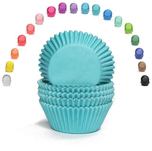 Miss Bakery's House® Mini-Muffinförmchen Standard - Ø 32 mm x 20 mm - Türkis - 200 Stück
