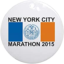 Louis 2015 New York City Marathon Ceramic Ornament 3 inch Round Holiday Christmas Ornament