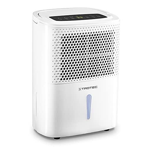 TROTEC Deshumidificador eléctrico TTK 26 E / 10L / Desagüe 1,8 L/Portátil/para Habitaciones de hasta 15m² / 37 m³ / Filtro de Aire/Silencioso / 240 W/Auto-Apagado/Descongelación automática