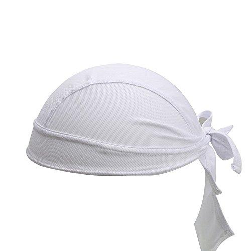 Gorro de ciclismo transpirable con calavera, bandana, para correr, ciclismo, motocicleta, calavera, debajo del casco, para hombres y mujeres, Unisex adulto, blanco