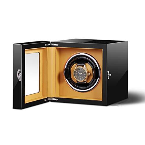 Soltero Automático Cajas Giratorias para Relojes con Silencio Motor, 5 Modos y Rastreable Watch Pillow, 2 Fuente de Alimentación (Color : A)