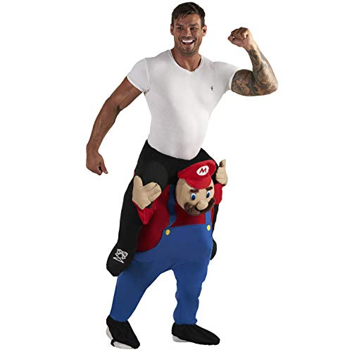 Piggy Back Mario or Luigi Costume for Adults. Let the iconic Nintendo plumber take you for a ride