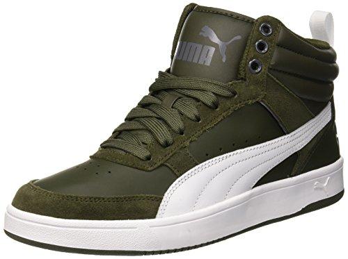 Puma Unisex Rebound Street v2 Hohe Sneaker, Grau (Forest Night White-Iron Gate), 43 EU