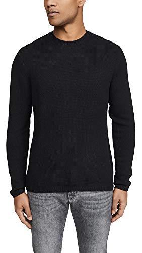 Vince Men's Long Sleeve Plush Cashmere Sweater, Black, Small