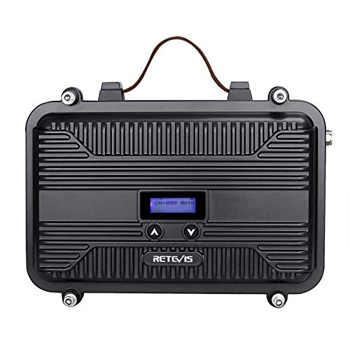 Retevis RT97P Digital Mobile Radio Transceiver Long Range Full Duplex Transceiver LCD Dust Proof Solid Mini Walkie Talkie Base Station(1 Pack)