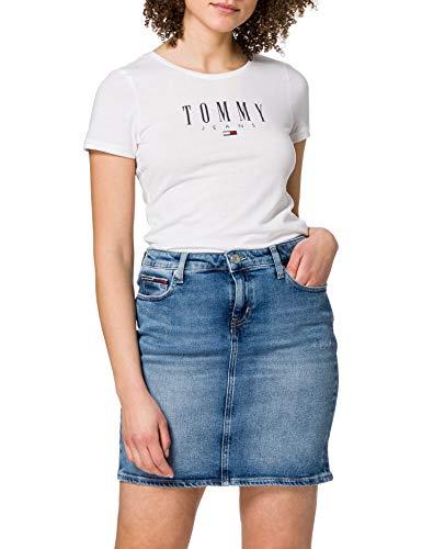 Tommy Jeans Classic Denim Skirt ALBS Falda, Arina LB Str, NI28 para Mujer