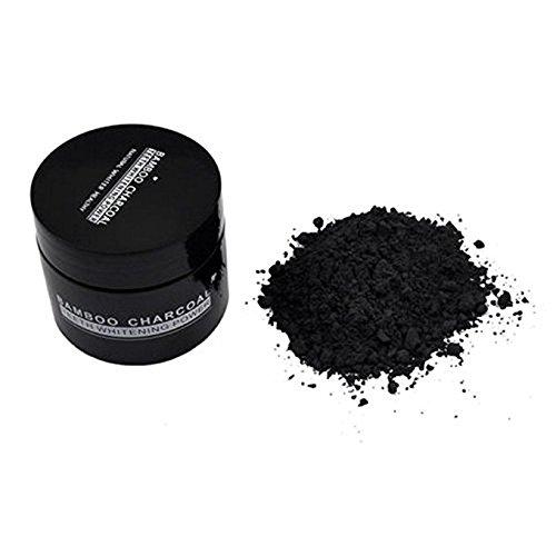 Gperw, polvere sbiancante per denti, ingredienti naturali ed organici, con carboni attivi