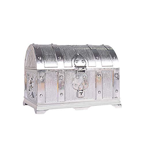Preisvergleich Produktbild Sarplle Goldmünzen Schatztruhe Kunststoff Schatzkiste Aufbewahrungsbox für Schmucksachen,  Kosmetik,  Geschenke,  Schmuckstücke,  Andenken