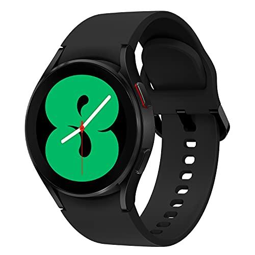 Samsung Galaxy Watch4, Runde Bluetooth Smartwatch, Wear OS, Fitnessuhr, Fitness-Tracker, 40 mm, Black (Deutche Version)