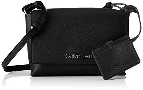 Calvin Klein - Tack Med Flap Crosbody, Bolsos bandolera Mujer, Negro (BLACK),...