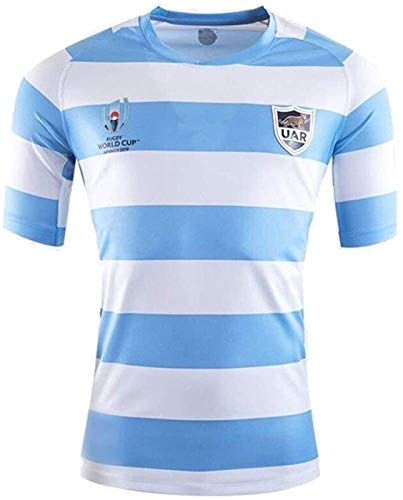 Rugby Jersey, 2019 Weltcup Argentinien Home Rugby-Trikots, Rugby Fan Shirts, Herren Rugby Trainingshemden (Color : A, Size : L)