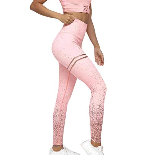 OIKAY Damen Caprihosen zweifarbig Sport Leggings Capri Tights Frauen Punkte Leggings Fitness Sport Gym Laufen Yoga Athletic Pants