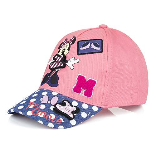 Minnie Mouse Cap Kappe Sonnen-Hut Sonnen Mütze Snapback, Farbe:Rosa, Größe:52