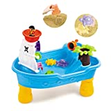 Sand Water Tables for Toddlers, Kids Water Play Table for Outside Toys Large Pirate Ship for Toddlers Age 2-4 Gifts (Multicolour)