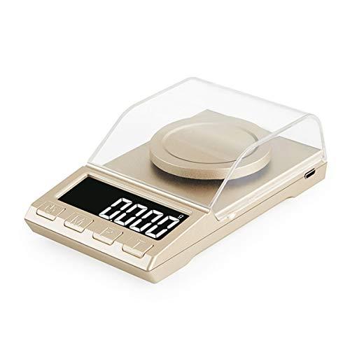 YZSHOUSE Oksmsa Alta Precisión Digital Escala Electrónica 0.001g Mini Joyería Pesar Bolsillo Balance Escala (Size : 200G/0.001G)