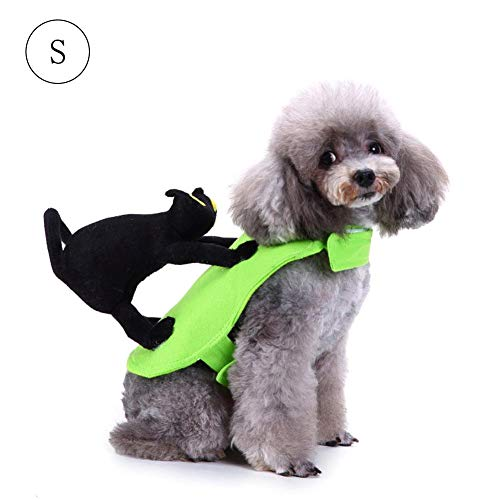 Wangyan 123 Ropa para Mascotas, Atuendo De Gato con Murciélago, Ropa De Gato para Murciélagos, Ropa para Perros, Vestido Transformado para Mascotas Noble