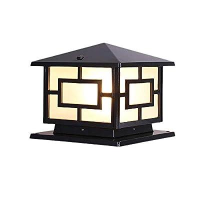 KJRJYZ Post Lights LED Post Cap Light Outdoor Light for Fence Deck or Patio Warm White Lighting Outdoor Gate Villa Pool Terrace Fence Post Lights Waterproof