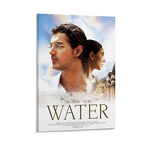 Indian Movie Retro Poster Water John Abraham Movie Poster Decorative Painting Canvas Wall Art Living Room Posters Bedroom Painting 12x18inch(30x45cm)
