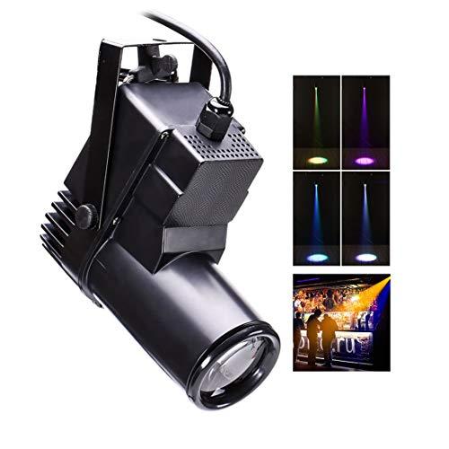 U`King LED Pinspot Licht 10W Bühnenlicht RGBW Lichtstrahl Partylicht DJ Bühnen Scheinwerfer DMX512 Disco Licht Farbänderung Stimme Aktiviert Bühnenbeleuchtung für Geburtstags Hochzeit
