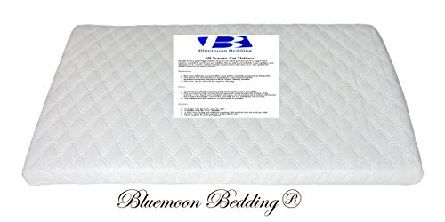 Bluemoon Bedding SAPLINGS KATIE CRIB SAFETY MATTRESS 73 x 35 CM (Square Corners) Quilted cover