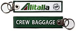 【 メール便発送 】 アリタリア イタリア航空 Alitalia CREW BAGGAGE キーチェーン キーホルダー タグ
