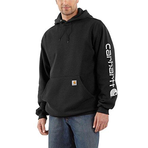 Carhartt heren sweatshirt met capuchon, middelzwaar, lange mouwen, met logo, K288