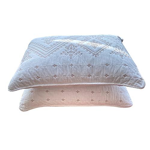 CAIER Las fundas de almohada de gran tamaño se pueden lavar, cómodas y suaves fundas de almohada nórdicas para adultos son duraderas individuales de 50 x 70 cm