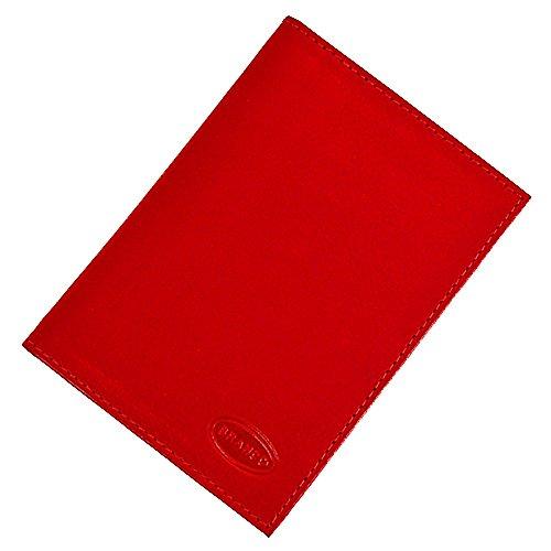 Branco Ausweishülle Ausweisetui Leder Ausweismappe Kreditkartenetui Etui GoBago (Rot)