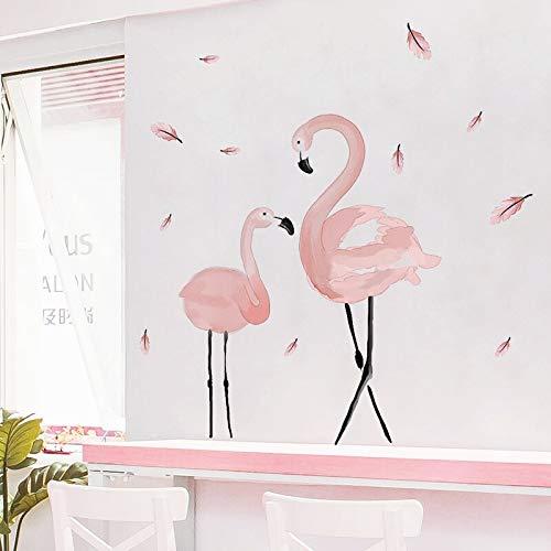 BLOUR [SHIJUEHEZI] roze flamingo muursticker PVC materiaal DIY vogels muursticker voor huis kinderkamer baby slaapkamer decoratie