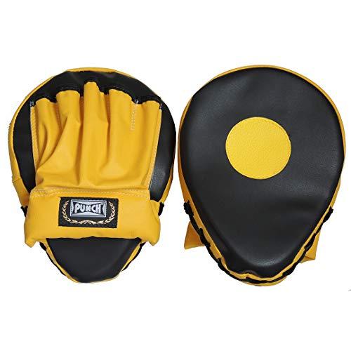 Punch PU5342, Aparador De Soco (Luva De Foco) Unissex, Único, Preto Com Amarelo