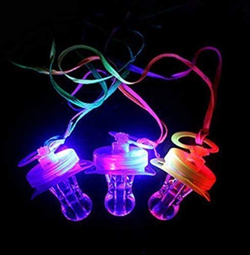 Gwill 4 STÜCKE leuchten Blink Witz Schnuller Spielzeug LED Schnuller Whistle Geeignet für Aktivitäten in KTV und Bar Konzert Werkzeuge für Jubeln für Sportveranstaltungen