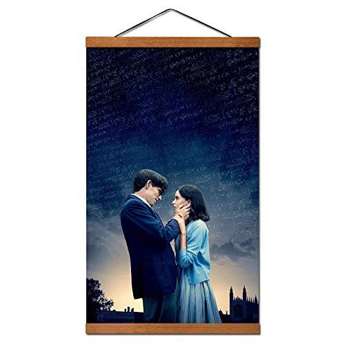 FGVB The Theory of Everything Filmposter und Drucke, Leinwandbild, zum Aufhängen, mit Wandkunstdruck auf Leinwand, kann direkt aufgehängt werden, 50 x 70 cm, mit Rahmen