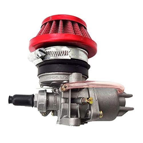 TOOGOO Carburador Carb Carby + Filtro De Aire + Pila para 2 Emlobadas 47Cc 49Cc Piezas del Motor Mini Moto Ni?os ATV Quad Dirt Bici De Bolsillo Minimoto
