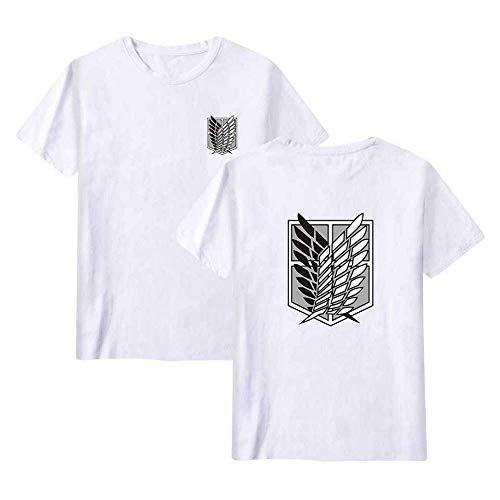 KJYAYA Unisex-T-Shirt Attack On Titan Anime Abzeichen T-Shirt Schnelltrocknendes, Atmungsaktives Kurzarmshirt Geschenke Für Fans