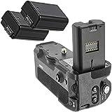 Meike - Empuñadura de batería, Compatible con Sony Alpha A9 A73 A7III A7rIII, para Sony VG-C3EM, Incluye 2 baterías NP-FZ100 de 1600 mAh