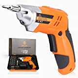 Electric Screwdriver Rechargeable, Cordless Screwdriver Set 4.8V Lithium Ion Power Screw Guns With 32 pcs Bits, LED Light for Home DIY, Power & Hand tools