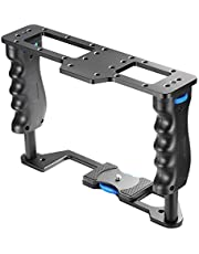 Neewer Aluminum Alloy Film Movie Making Camera Video Cage for DSLR Cameras Such as Canon 5D mark II III 700D 650D 600D;Nikon D7200 D7100 D7000 D5200 D5100 D5000 Pentax Sony A7,A7II,A7R,A7S Olympus