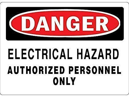 TTMMBB - Cartel de metal retro con peligro eléctrico para cafetería, restaurante,...